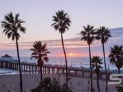 Timelapse at Manhattan Beach in California