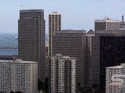 Panorama of San Francisco Bay Bridge and Buildings