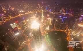 Jin Mao Tower in Shanghai Time Lapse