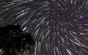Star Trails Royalty Free HD Stock Video