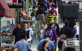 Walking in Downtown San Francisco - Slow Motion
