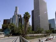 Wide Panorama of Skyscrapers in Los Angeles