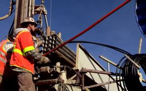 Geothermal Heat Pump Test Drilling B-Roll