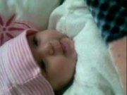 Cute Baby Wafa Talking To Mom