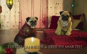 Blinkbox: Pugs as Game of Thrones Characters