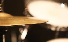 A Drum Plate Playing the Rhythm of the Music