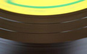 Spinning Vinyl Close Up