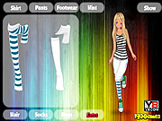 Dress up sport girl