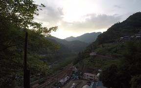 Mountain Top View of Sunset