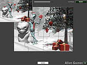 Christmas Alien Jigsaw