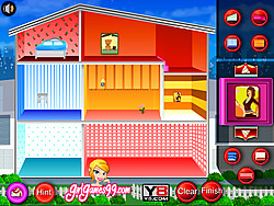 doll house decoration game game play online at y8 com