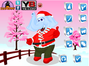 Christmas Elephant Dress Up