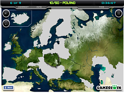 Europe Map Test Game   Play online at Y8.com