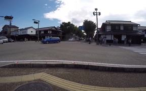 Busy Castle Road in Hikone