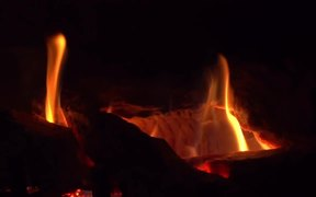 Fireplace Close Up - Slow Motion