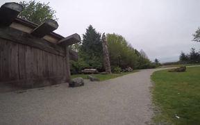Authentic Totem Poles at Museum