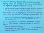 Lecture 8 - Economics of Energy Demand