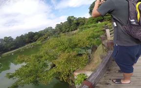 Large Pond Romantic Place at Hikone Castle