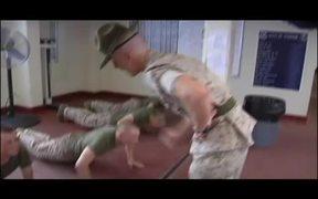 Drill Instructor Makes Marines