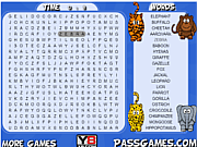 Safari Animals Word Search