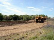 Wheel Tractor-scrapers Conducting Levee Work