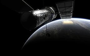 Hubble over Earth - artists rendering