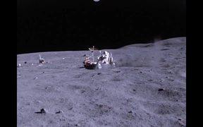 Apollo 16 Lunar Rover in use on the Moon