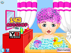 baby first haircut at salon game play online at y8 com