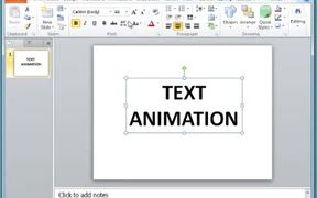 PowerPoint - Add Animations to Text