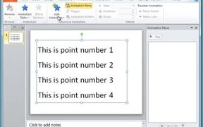 PowerPoint - Text Animation Line By Line