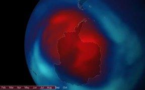 Ozone Hole Over the South Pole