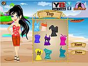 Stylish Beach Girl