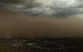 Sudden Frightening Sandstorm Haboob