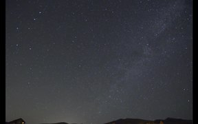 Lyrid Meteor Shower in Time Lapse