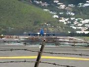 Crazy Start of an Airplane B747 in Saint Martin