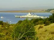 Battleship IOWA out of Mothball Fleet