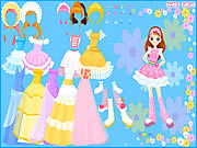 Flower Gown Dressup