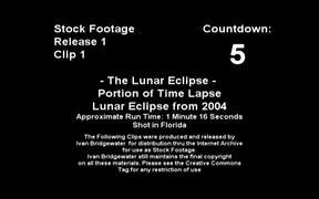 Timelapse Lunar Eclipse