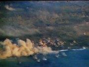 Iwo Jima - Planes Bomb and Strafe Island 1945