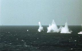 Mass Attack On Submarine