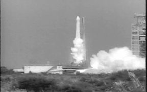 Thor Rocket Carries Courier Satellite Into Space