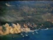 Iwo Jima Planes Bomb and Strafe Island