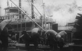 Loading Cotton Bales On Steam Boat