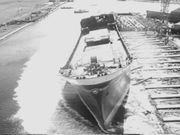 Sideways Launching of a Ship