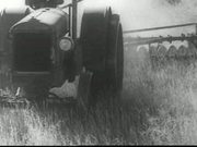 Old Time Tractor Plowing Dry Land 1936