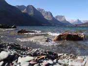 Waves on Saint Mary Lake