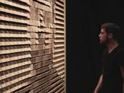 "Daniel Rozin, ""Wooden Mirror,"" 2014"