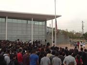 Applied Technology Center Flag Raising Ceremony