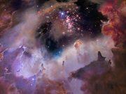Flight through star cluster Westerlund 2 - slow