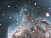 Pillars in the Monkey Head Nebula